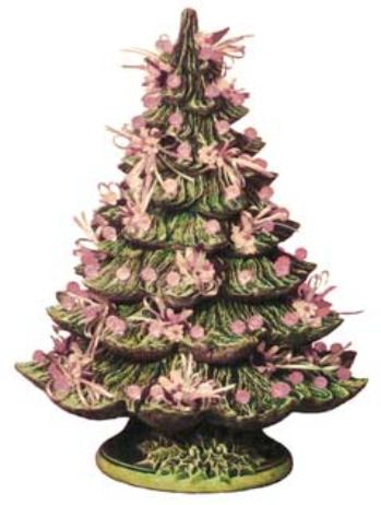 Ceramics In Michigan Tree And Wreath Page Ceramic Christmas Trees